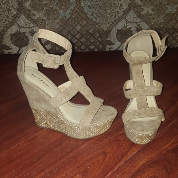 6ba871a6ade Mark   Maddux Shoes - 3 for  10 Mark   Maddux Beige Suede Wedges